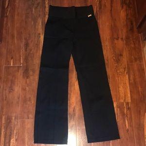 Calvin Klein wide waistband wide leg pant